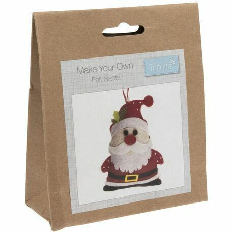 Trimits Felt Christmas Decoration Kit - Santa