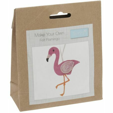 Trimits: Felt Decoration Kit: Flamingo