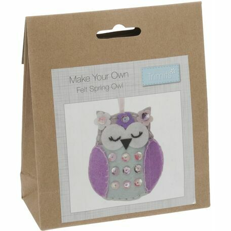 Trimits Felt Decoration Kit - Spring Owl