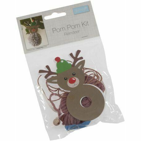 Trimits Pom Pom Decoration Kit - Reindeer