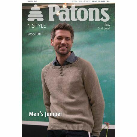 Patons Pattern - Mens Jumper