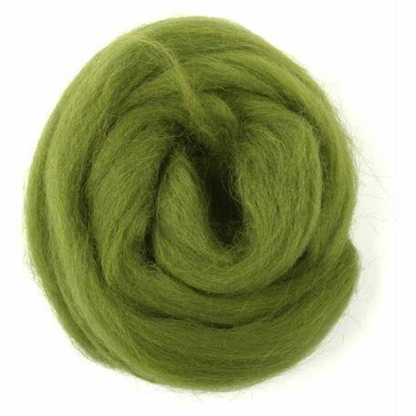 Trimits Natural Wool Roving (10g) - Lime