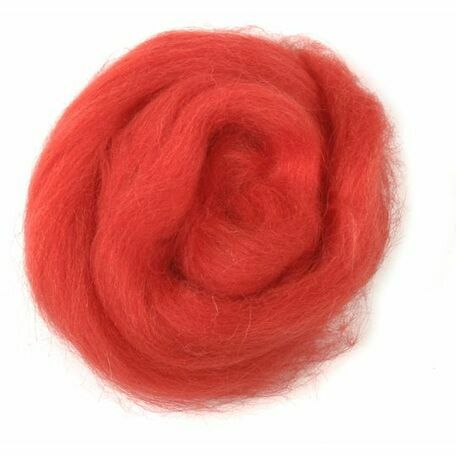 Trimits Natural Wool Roving (10g) - Red