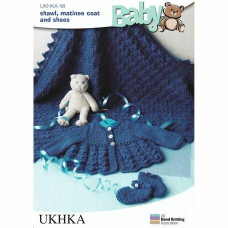 UKHKA Pattern DK n.48: Shawl, Matinee Coat and Shoes