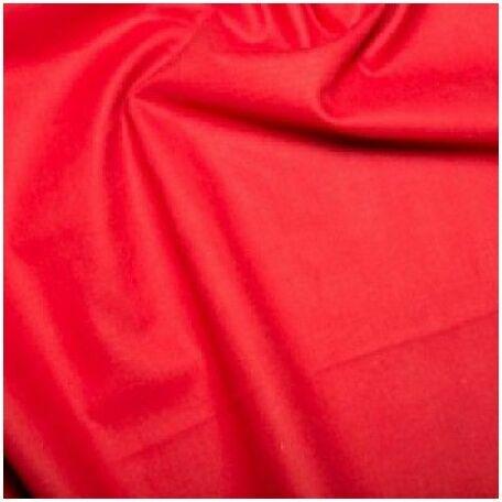 Red Plain 100% Cotton: Plain Dyed: 60 Square: 150cm: Per Metre