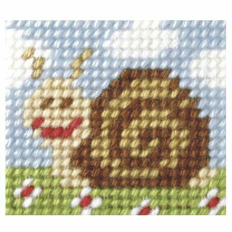 Orchidea My First Embroidery Needlepoint Kit - Sammy Snail