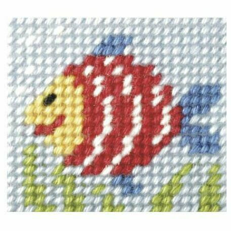 Orchidea My First Embroidery Needlepoint Kit - Rainbow Fish