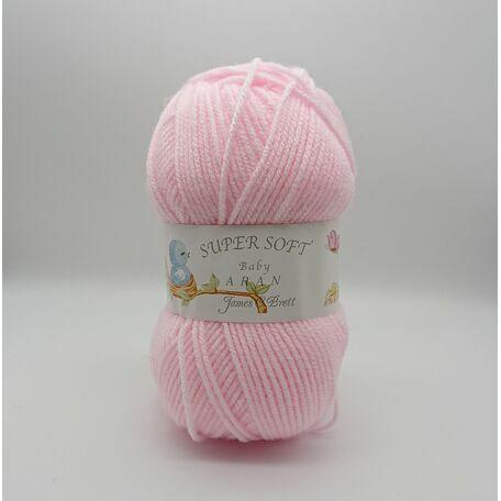 Super Soft Baby Aran: Baby Pink: BA6: 100g