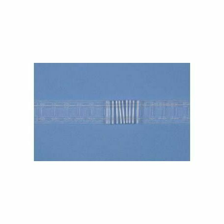 "Hallis Translucent Curtain Net Tape 50mm (2""): Per Metre"