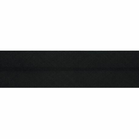 Essential Trimmings Polycotton Bias Binding - 25mm (Black) - Per Metre