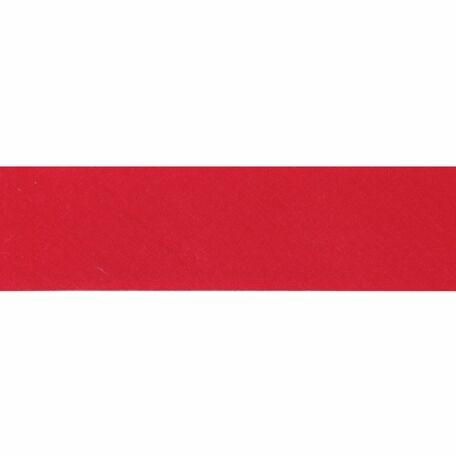 Essential Trimmings Polycotton Bias Binding - 25mm (Red) - Per Metre