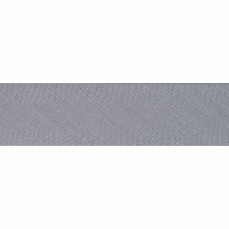 Essential Trimmings Polycotton Bias Binding - 25mm (Pale Grey) - Per Metre