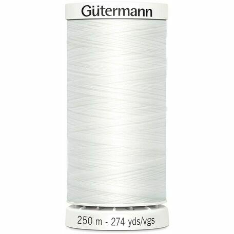 Gutermann White Sew-All Thread: 250m (800)