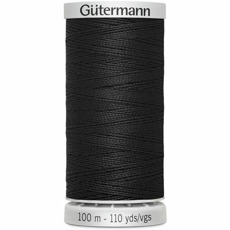 Gutermann Black Extra Strong Upholstery Thread - 100m (000)