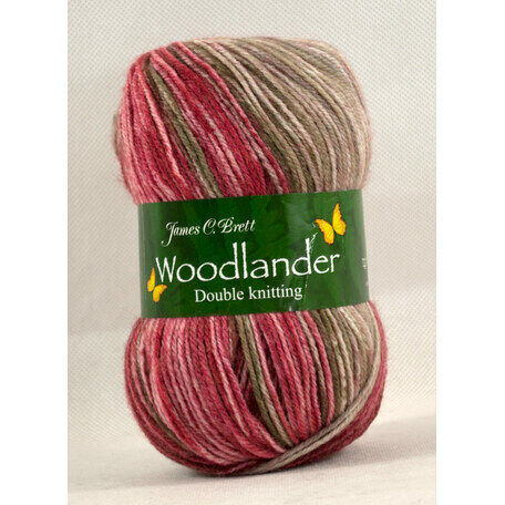 Woodlander Yarn - Red & Brown L7 (100g)